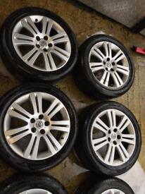 "17"" GENUINE VAUXHALL VECTRA ASTRA ZAFIRA ALLOY WHEELS SET OF 4 no tyres"