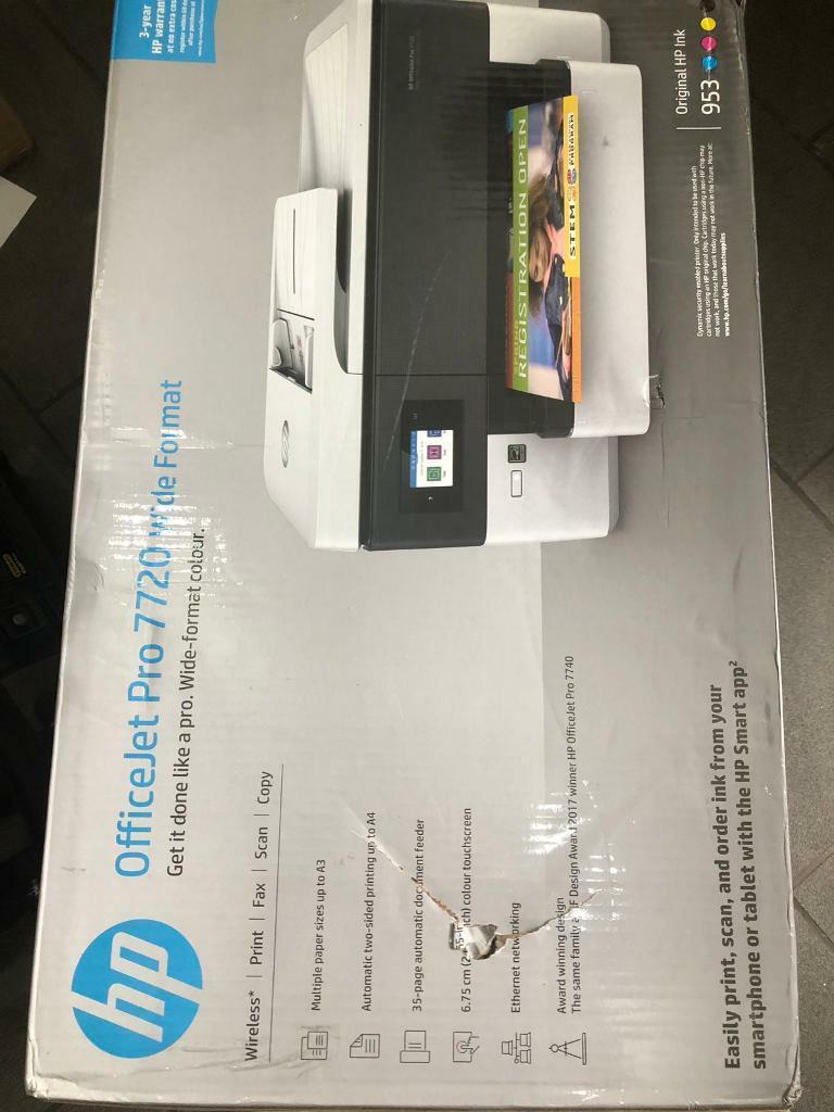 HP office jet pro 7720 wide format wireless printer brand new in box | in  Top Valley, Nottinghamshire | Gumtree