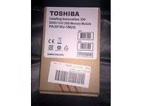2 x Brand New Toshiba 2GB DDR3 1333Mhz SO Dimm