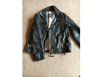 Girls River Island Leather Jacket Age 9 Years
