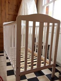 Mothercare white cot for sale