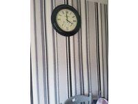 black wall clock vgc collection antrim