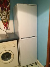 Hotpoint white fridge freezer. 50/50.