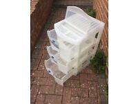Plastic set of drawers