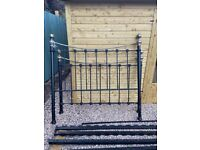 Cast iron king size bed frame