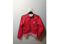 Womens size 10 red Adidas jacket