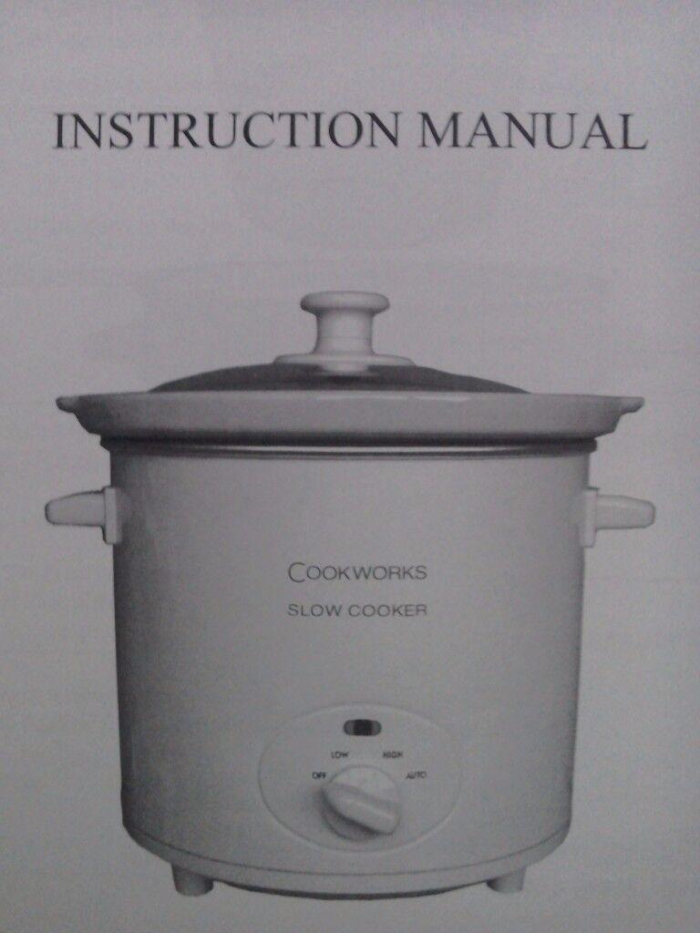 Cookworks slow cooker white 2L