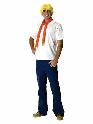 Mens Adult Licensed  SCOOBY DOO Fred Costume Outfit](Fred Costume Scooby Doo)
