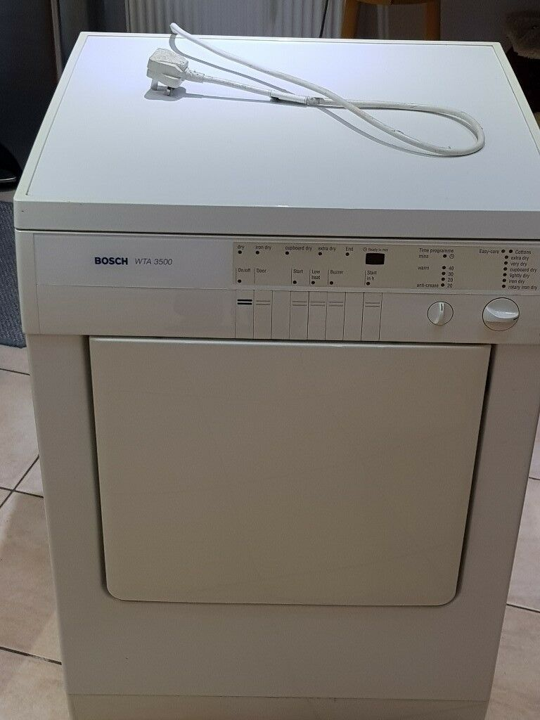 Bosch tumble dryer WTA3500 noisy and working, could be for repair or parts