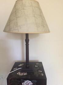 Mahogony lamp with shade , Good condition