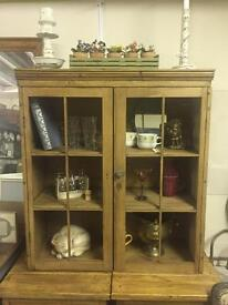 Antique solid pine kitchen cupboard / cabinet