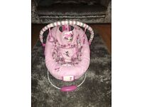 Minnie Mouse bouncer vibrates & plays music for sale