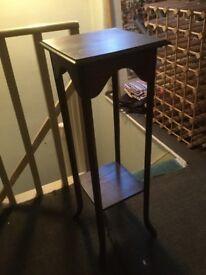 Oak tall side table
