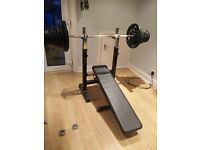 60kg of free weights + bench