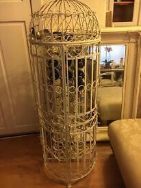 Bird cage wine rack