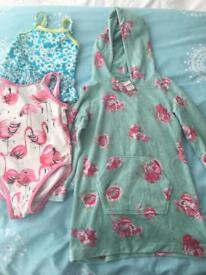 Next and Monsoon swimming costume and towelling suit