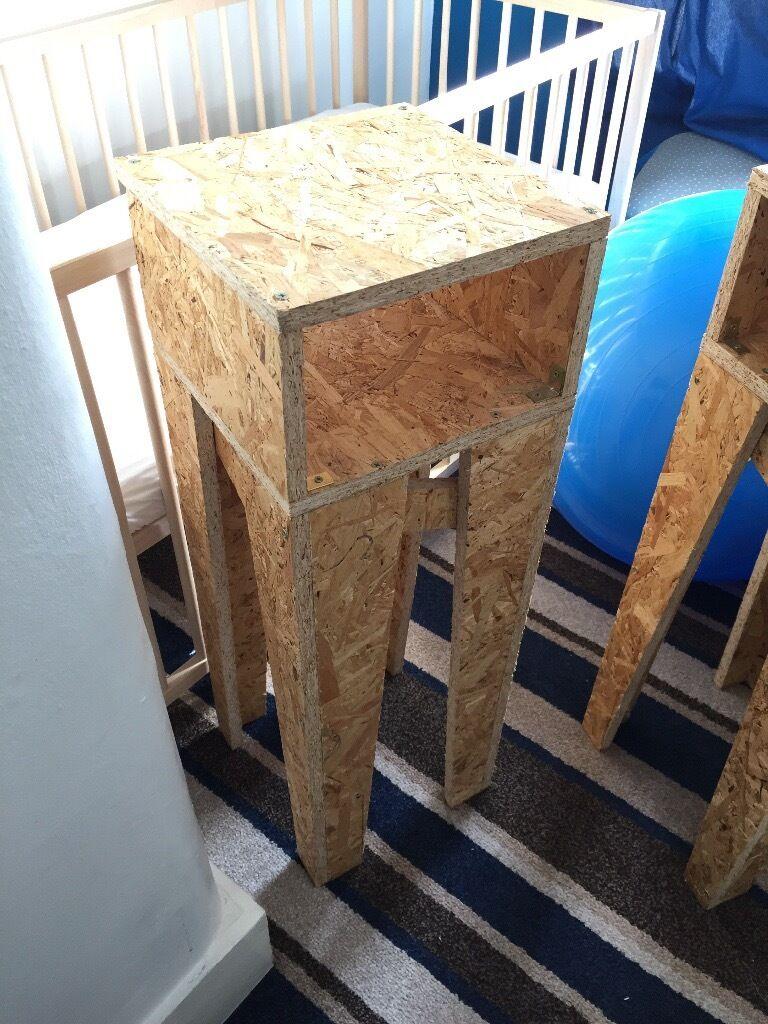 2x homemade bedside tables in osb wood in clapham london gumtree 2x homemade bedside tables in osb wood watchthetrailerfo