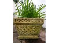 3 Solid Garden Concrete Planters/ Pots