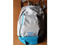 SPORTS BACKPACK. Lightweight Colours Blue/Grey BRAND NEW (Unwanted Gift) Large& Small Compartments