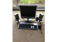Philips monitor, plus speakers, keyboard and Skype camera