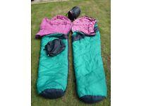 VANGO mp400 sleeping bags. Hardy used.