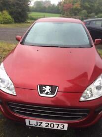 Peugeot 407 red 2006 mot