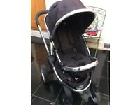 Pushchair iCandy Peach blossom black #car seat #raincover