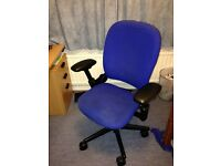 Steelcase leap v1 office desk computer chair - blue (near woking)