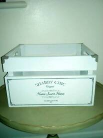 CLEARANCE!! Shabby Chic White Wooden quality box ! £5.00