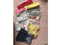 Upto 1 month bundle..7 pairs of leggings a couple not even worn! 4 tops and a dress