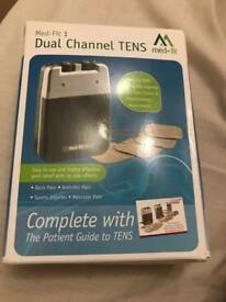 New unused dual channel tens machine med-fit1