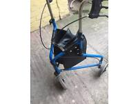 Walking Frame tri walker with wheels and bag
