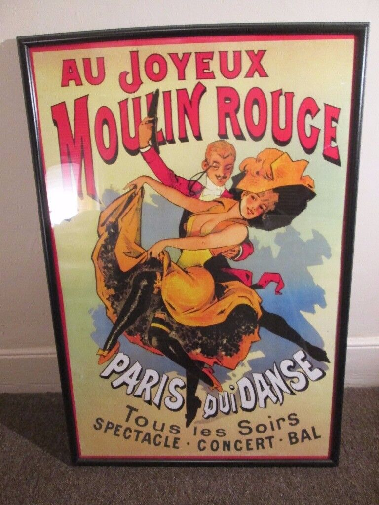Art Nouveau Poster and Frame for sale!
