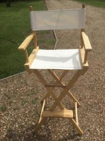 High Director's Chair, for Face Painting, garden etc. As new.
