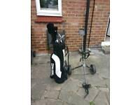 Golf clubs+bag+trolley