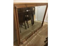 MUCH REDUCED ***** solid PINE WOOD MIRROR