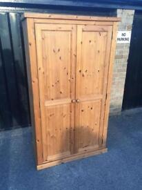 Solid pine wardrobe (delivery available)