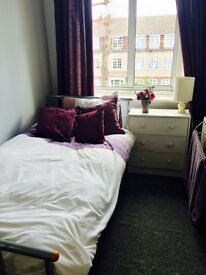 Short term only single bedroom in large house North London. £145pw
