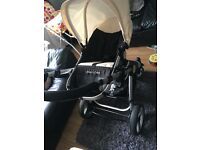 Uberchild pram including new born, buggy part and car seat.