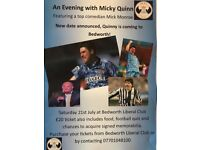 An Evening with Micky Quinn. Ex Coventry and Newcastle star comes to Bedworth