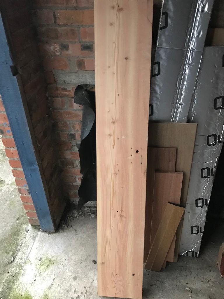Pitch pine timber beam
