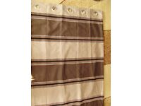 Curtains / a pair of lined curtains, with eyelets, VGC, lovely fabric, should be seen