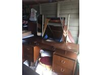 Vintage Dressing table with mirror ( dresser)