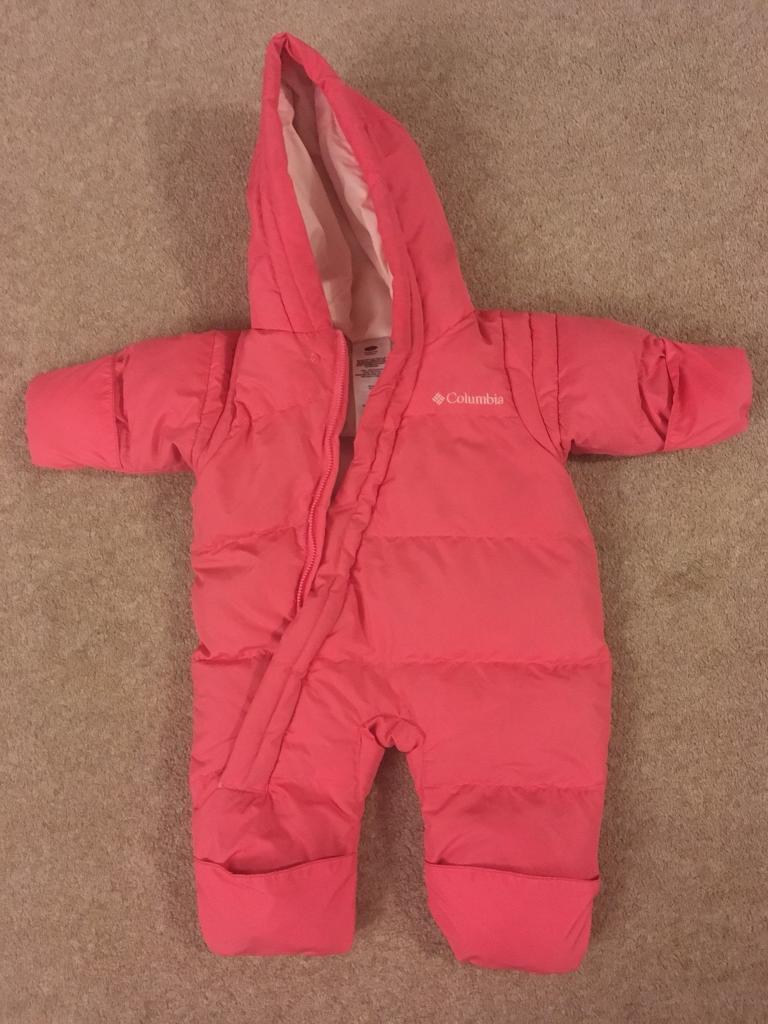 e2ab71d06 Columbia pink down snowsuit 6-12 months
