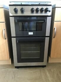 Black and silver gas Cooker