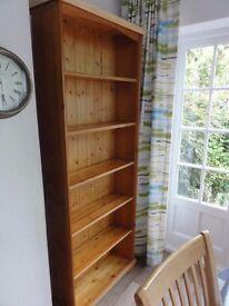 Bookcase, pine, large custom made