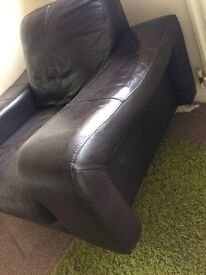 Leather Arm Chair/1 Seater with Tilt Base
