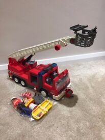 Playmobil Fire Engine with flashing lights