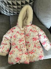 Gorgeous thick mothercare coat 6-9 months