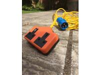Camping electric extension lead